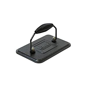 Lodge LGP3 Grill Press, 4.5 inch X 6.75 inch, Black