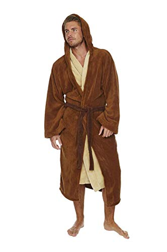 Star Wars Jedi Outfit Brown/cream Adult Fleece Dressing ()