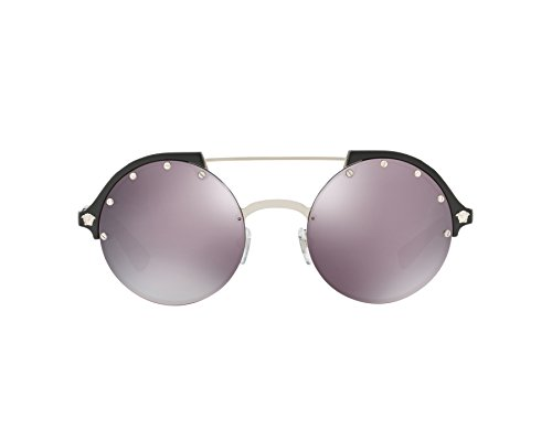 Versace Womens Sunglasses Silver/Pink Plastic,Nylon - Non-Polarized - ()