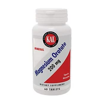 KAL - Magnesium Orotate, 200 mg, 60 tablets