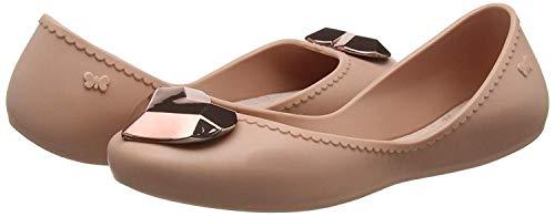 Rose Mujeres Start Metallic Flats Ballerinas Zapatos Heart Zaxy qUtIxOdww