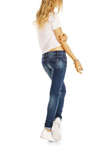 taille en pantalon jean basse j39k jean slim Bestyledberlin Bleu fit femme nw05Tdxq7