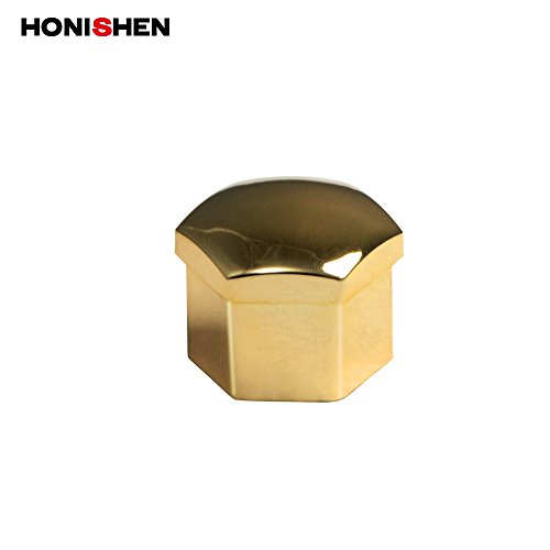 HONISHEN 17mm Plastic Wheel Lug Nut Bolt Covers and Removal Tool (17mm, Gold) by HONISHEN (Image #1)
