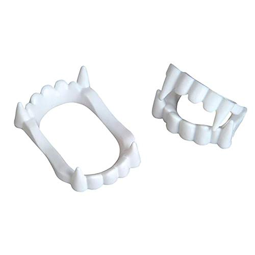 Kicko Vampire Fangs - 144 Pieces of White Plastic Teeth - Perfect for Halloween, Costume Accessories, Novelties, Pretend Play, Party Favor, and Supplies