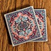- Logos Turkish Rug Coaster Set- Gold ( pack of 2)
