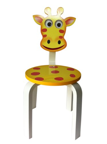 UPC 852895005130, Inskeppa Safari Collection Kid's Giraffe Wood Chair. Cute Design and Functional Chair for Any Room