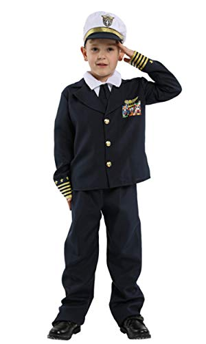 stylesilove Kid Boys Halloween Costume Party Cosplay Outfit Themed Party Birthdays Party (Captain Pilot, L/7-9 -