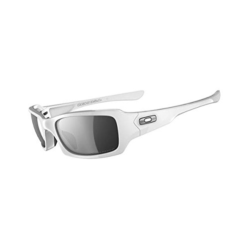 Oakley Fives Squared Polarized Sunglasses Polished White/Black Iridium Polarized, One - Photochromic Oakley Sunglasses