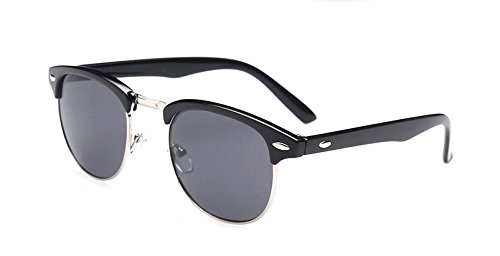 GAMT Semi Rimless Polarized Sunglasses Designer for Men and Women Gray Lens