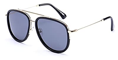 """PRIVE REVAUX """"The King"""" Handcrafted Designer Brow Bar Sunglasses"""
