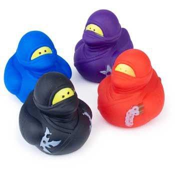 Fun Express Ninja Rubber Ducks - 12 Pieces (Boys Rubber Ducky Costume)