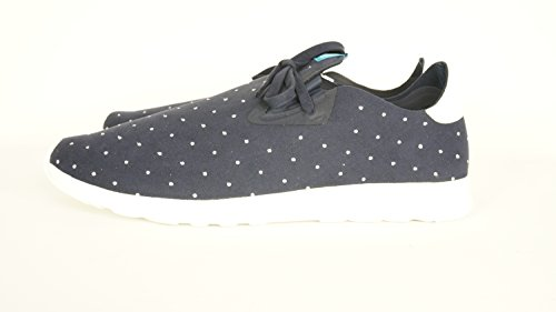 Native Unisex Apollo Moc Fashion Sneaker. Regatta Blue/Shell White/Polka Dot a2wlL