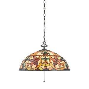 - Quoizel TF878CVB Kami Kitchen Nook Tiffany Pendant Lighting,3-Light, 300 Watts, Vintage Bronze (11