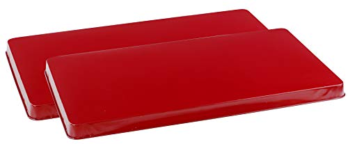 Reston Lloyd 2-Piece Rectangular Tin Burner Cover, 19.75-Inch by 11-Inch, Red