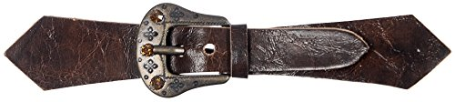Brn Buckle (Mibo Sew On Faux Leather Tab Closure Western Look 1