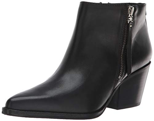Sam Edelman Women's Walden Ankle Boot, Black Leather, 5 Medium US