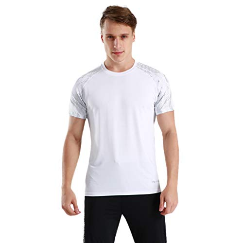 Winsummer Men's Dry Fit Athletic Shirts Short Sleeve T-Shirt Running Fitness Tee Shirts Crewneck Tshirts by Winsummer (Image #6)