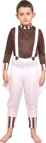 Book Character Costume Ideas For Boys - rainbow Big Boys' Factory Worker Age Ren Fancy Costumesuitable For School Book Day 6-8 Brown