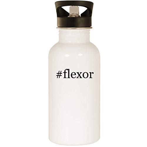 (#flexor - Stainless Steel Hashtag 20oz Road Ready Water Bottle, White)
