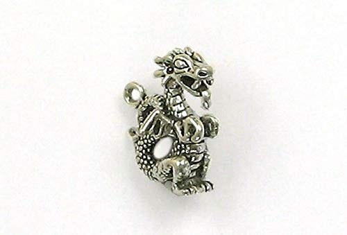 Charm - Sterling Silver - Jewelry - Pendant - Fire Breathing - Breathing Fire Pendant Dragon