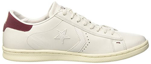 Dust Leather LP Blanco Pro Maroon White White Zapatillas Snow para Hombre Ox Converse pRzqx