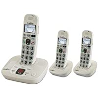 CLARITY Clarity amplified/low vision cordless phone plus 2 handsets / CLARITY-D712C2 /