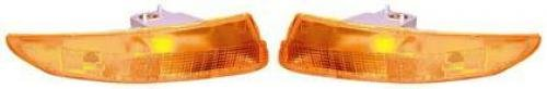 Go-Parts PAIR/SET OE Replacement for 1993-2002 Chevrolet (Chevy) Camaro Parking + Signal + Marker Lights Assemblies/Lens Cover - Left & Right (Driver & Passenger) Replacement For Chevrol