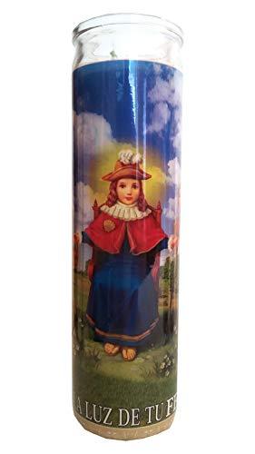 George Boy of Atocha (Santo Nino De Atocha) Devotional Candle (La Luz de Tu Fe) (Glory Be To The Father In Spanish)