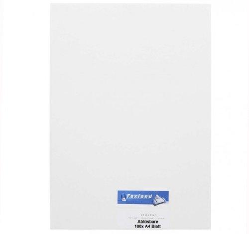 HERMA 10315 Ablösbare Etiketten A4 210x297mm Movables 100 Blatt pro Packung weiß