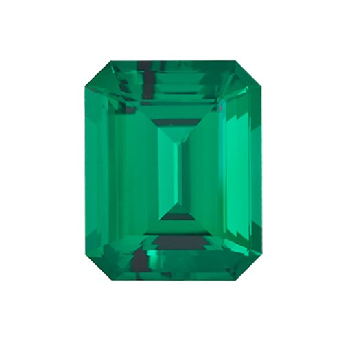 1.20-1.75 Cts of 8x6 mm AAA Emerald-Cut Russian Lab Created Emerald ( 1 pc ) Loose Gemstone