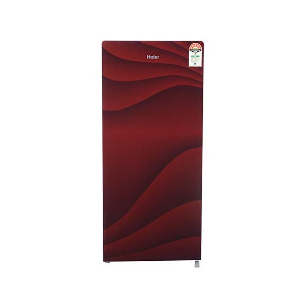 Haier Direct Cool-Single Door Refrigerator 5 Star 195 Ltr HRD-1955CWG-E, Wave Glass Red) 2021 July Direct-Cool Refrigerator; 195 Litres Capacity, Brand – Haier , Model no - HRD-1955CWG-E Fridge Single Door 5 Star, Energy Rating: 5 Star,Eletricity Consumption-128* Unit Per Year. 195 ltr Refrigerator , Warranty: 1 Year On Product, 10 Years On Compressor.