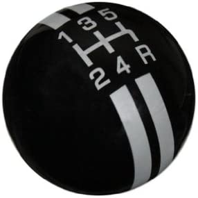 American Shifter 281652 Shift Knob Red 4 Speed Shift Pattern - Dots 6n Black Retro with M16 x 1.5 Insert