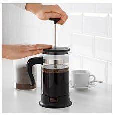 IKEA UPPHETTA prensa francesa con Orgánica oscuro asado café ...