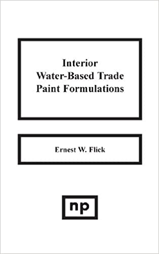 Interior Water-Based Trade Paint Formulations: Ernest W