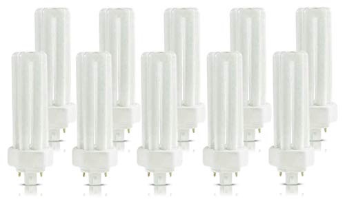 ((10 Pack) PLT-26W 841, 4 Pin GX24q-3, 26 Watt Triple Tube, Compact Fluorescent Light Bulb)