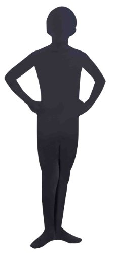 All Black Costumes For Halloween (Forum Novelties Women's Teen Disappearing Man Solid Color Stretch Body Suit Costume, Black, Small/Medium)