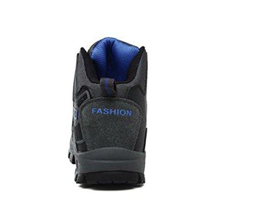 en Randonné Homme gris de Automne Montantes Femme Nubuck Chaussure pour Chaussures Hiver D'escalade foncé Sport de XIGUAFR Respirant wpqzXBtn