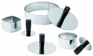 Matfer Bourgeat 376104Pack Down Herramienta para moldes/anillos, plata
