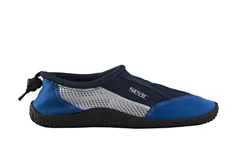 Seac Reef Water Sports Shoes Barefoot Quick-dry Aqua Waterproof Water Shoes for Men Women Kids Blue 9.5, Blue, 9.5 by SEAC