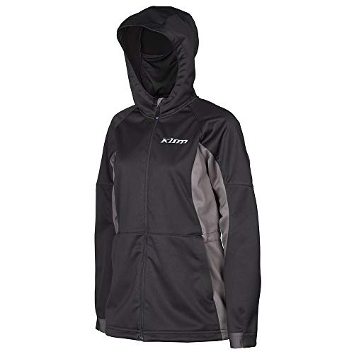 Klim Evolution Women's Hoody Zip Snowmobile Jacket - Black/Small
