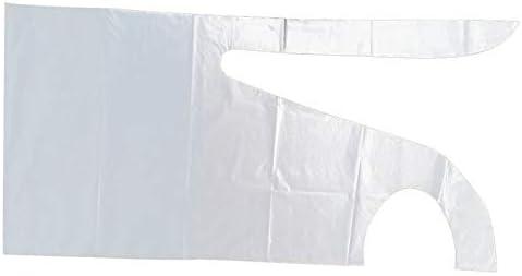 ZengBuks Paquete Plano y Rollo de Delantales de plástico Desechables Delantal de plástico de Polietileno de Alta Densidad Delantales de Cocina para el hogar - Blanco Azul (Opcional) -83X120cm