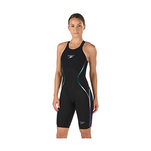 Fastskin Racing Swimwear (Speedo Fastskin LZR Racer X Open Back Kneeskin Female Black/Blue)