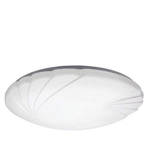 Lithonia Lighting Crenelle 14 in. White LED Round Flush Mount with Scalloped Acrylic Diffuser