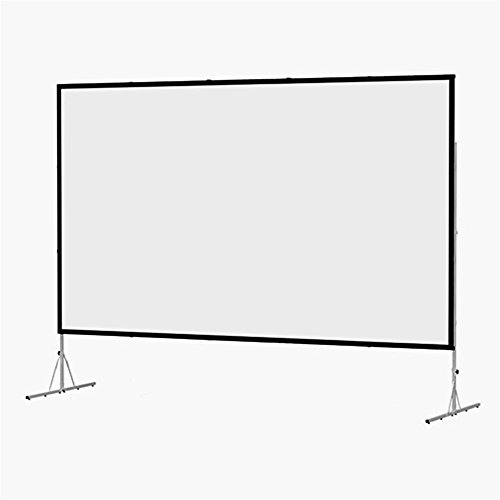Fast Fold Deluxe 3D Virtual Black Portable Projection Screen Viewing Area: 56