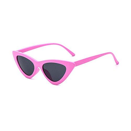 Clout Goggles Cat Eye Sunglasses Vintage Mod Style Retro Kurt Cobain Sunglasses (Pink& smoke, ()