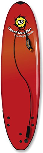 Liquid Shredder Element Soft Surfboard, 9', Red by Liquid Shredder