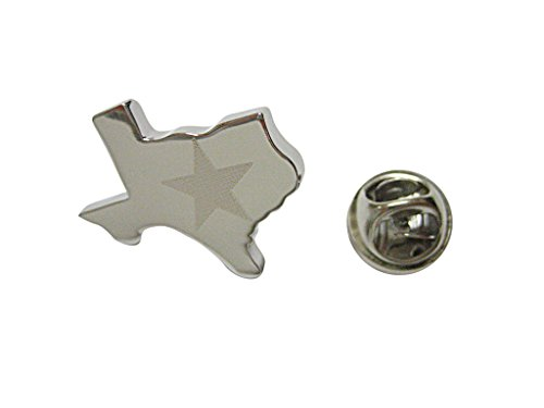 Texas State Map Shape and Flag Design Lapel Pin ()