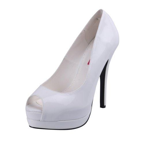 Hvit Mary Jane Sexy Kvinners 9 Stiletthæl 14 Toe Bella12 Titte Hvit Uk 5 Pumpen Bordello xfI1zPvqwI