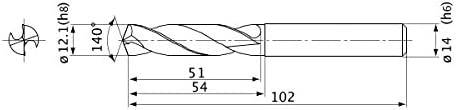 2.1 mm Point Length 11.4 mm Cutting Dia External Coolant 12 mm Shank Dia. 2 Hole Depth Mitsubishi Materials MVE1140X02S120 Series MVE Solid Carbide Drill