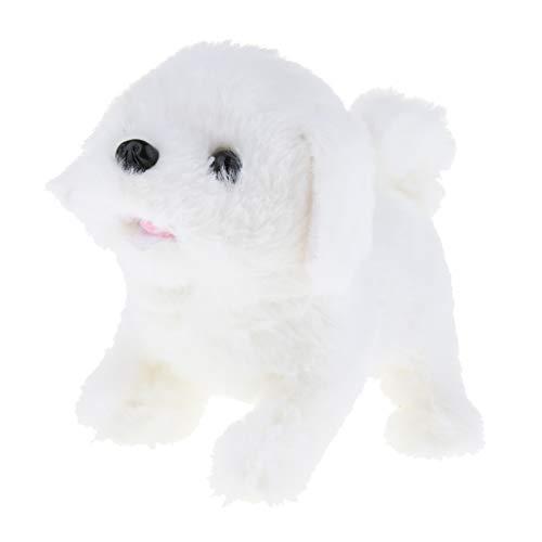 (Fenteer Walking & Barking Interactive Puppy Dog Pet Toy Electronic Plush Animal Educational Gift for Kids Toddlers - Bichon Frise)